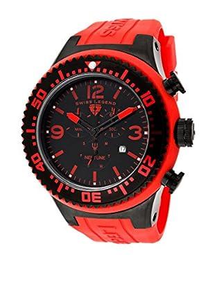 Swiss Legend Reloj Cronógrafo Neptune Rojo