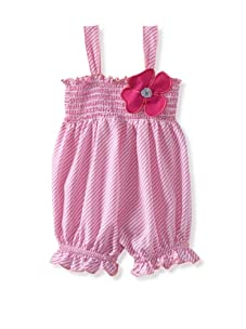 Baby Nay Smocking Balloon Romper (Pinstripe)