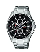 Casio Edifice Multi Fuction Analog Black Dial Men's Watch - EF-334D-1AVDF (ED420)