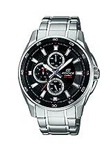 Casio Edifice Multi Fuction Analog Black Dial Men's Watch - EF-334D-1AVDF (ED420)