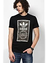 Black Originals Round Neck T-Shirt Adidas