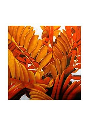 Legendarte Ölgemälde auf Leinwand Arbusti Floreali 80X80 Cm multicolor
