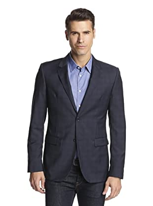 Calvin Klein Collection Men's Bowery Two Button Sportcoat (Blue Cobalt Garnet)