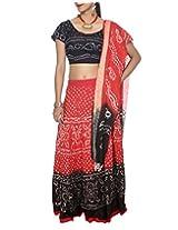 Rajrang Indian Lehenga Choli Tie Dye Bandhej Print Chaniya Choli Dress