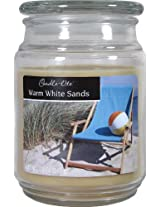 Candle-lite Essentials 18-Ounce Terrace Jar Candle, Warm White Sands