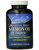 Carlson Labs Salmon Oil Complete Soft Gels, 120 Count