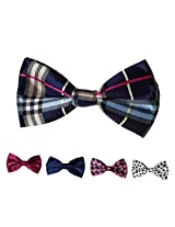 DBFF0006 Multiple Types Satin Leadership Stain Pre-Tied Boys Bow Ties Set - 5 Styles Available By Dan Smith