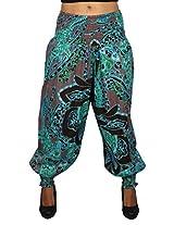True Fashion Aqua Colour Floral Printed Cotton women's Salwar
