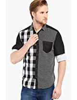 Black Check Slim Fit Casual Shirt Locomotive