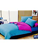 Bliss Double Bedsheet With Coordinate Colour Pillow Covers