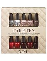 Opi Nail Lacquer 10 Piece set, Take Ten Mini Kit [Misc.]