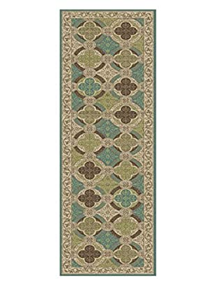 Universal Rugs Capri Transitional Runner, Beige, 2' x 8'