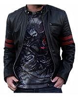 Zayn Leather Men's Leather Jacket (018_WLJ_Black_X-Large)