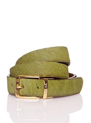 Salsa Cinturón Hebilla Reversible (Verde / Marrón)
