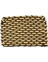"""Agra Dari Woolen Doorm Mat - 8"""" x 9"""" , Brown"""