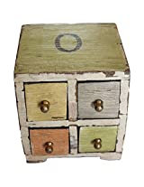 Jodhpur Summers Wooden Storage Chest (5 x 5 x 5.5 Inches)
