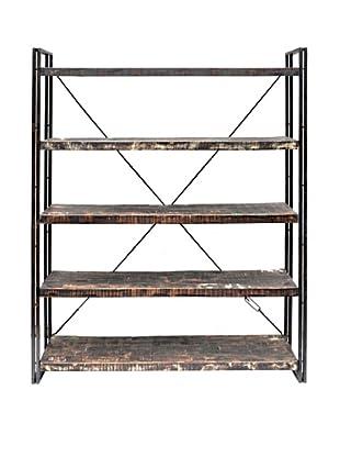 Moti Addison Reclaimed Wood & Metal Book Shelf