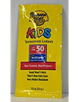 Banana Boat Kids Sunscreen Lotion Packets Spf 50, .04 Ounce Units (12 Pieces)