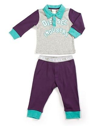 Diesel Baby Jogginganzug (Grau/Violett)