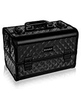 Shany Diamond Collection Premium Makeup Train Case In Black