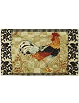 Bergerac Rooster Neutral 30-Inch by 46-Inch Accent Rug