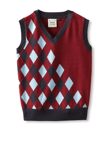Fore!! Axel and Hudson Boy's Payne Stewart Argyle Sweater Vest (Jester Red)