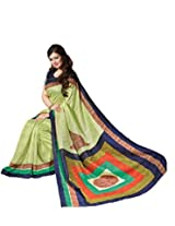 Bhavi Creations Presents Printed Thanjavur Silk Saree