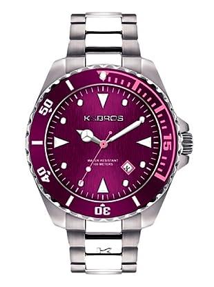 K&BROS 9472-3 / Reloj de Caballero  con brazalete metálico Morado