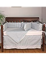 Hoohobbers Crib Bedding Set, Baby Blue, 4 Piece