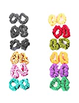 Accessher Cotton Crunchy Hair Ties Hair Band Combo Pack of 24