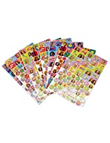 Barbie Assorted Sticker Collection Set (8 Sheets, 500+ Stickers)