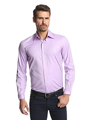 Nikky Men's Hand-Made Oxford Shirt (Lilac Pinpoint)