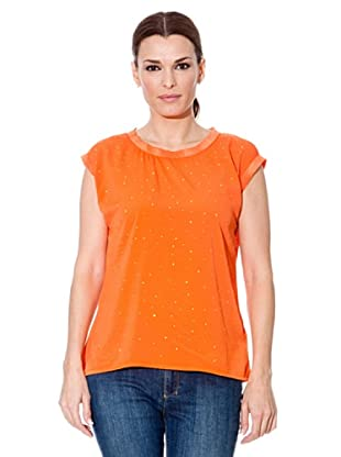 Cortefiel Blusa Tachitas (Naranja)