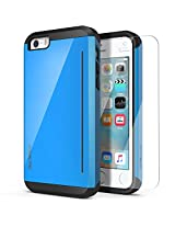 iPhone SE Case, OBLIQ [Skyline Pro][Blue] w/ HD Screen Protector - with Kickstand Slim Fit Bumper Dual Layered Heavy Duty Hard Protection Case for Apple iPhone SE [Compatible with iPhone 5S/5]