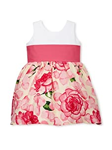 Noa Lily Girl's Garden Party Dress (White/Pink)