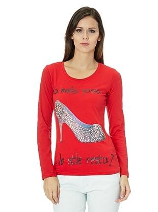 Free for Humanity Camiseta  Moda (Rojo)