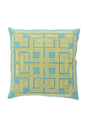 Surya Geometric Throw Pillow (Turquoise)