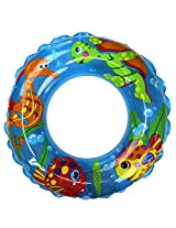 "Enimay 24"" Clear Color Summer Swimming Tube Fish Water Ring Toy Blue"