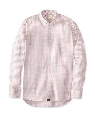 Billy Reid Men's John T Woven Shirt (Light Blue/White)