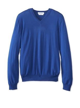 Salvatore Ferragamo Men's V-Neck Sweater (Navy)