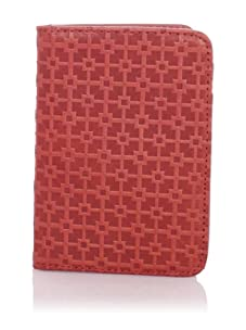 Hlaska Artifacts Women's Embossed Card Wallet (Tritone Red)