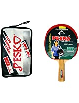 PESKO HOT SHOT Unisex Table Tennis Racquet with Cover, Standard