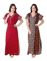 Masha Women's Cotton Nighty(NT2PC-172-176)
