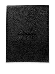 Rhodia Leatherette Small Pad Holder with 5 Pad Refills (Black)