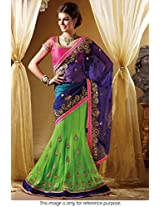 Bollywood Replica Model Net Lehenga In Blue And Green Colour Nc 691