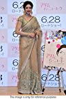 Sridevi Shimmery Beige Net Bollywood Saree