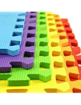 IncStores Rainbow Playmats (2x2 Tiles, 24 Sqft) Colorful Soft Foam Tiles