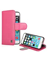 iPhone 6 case - KAYSCASE Synthetic Leather Book Cover with Slim Soft Gel Case for Apple iPhone 6, iPhone Air 4.7 inch 2014 Version (Lifetime Warranty) (Pink)