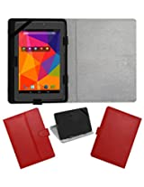 ACM LEATHER FLIP FLAP TABLET HOLDER CARRY CASE STAND COVER FOR MICROMAX CANVAS TAB P480 RED