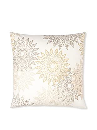 Zalva Masai Decorative Pillow (White/Silver/Gold)